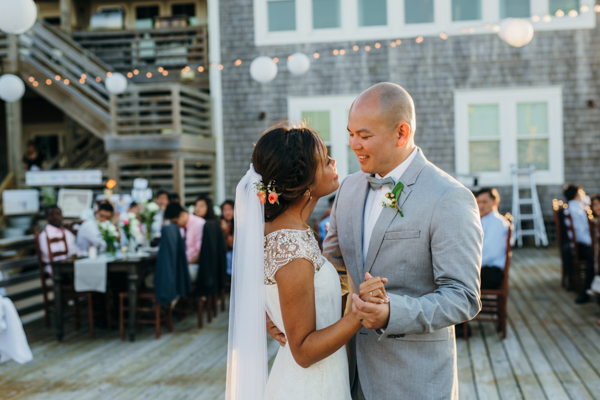 Wild Horse Coastal Estate wedding reception venue Sarah D'Ambra Photography bride and groom first dance
