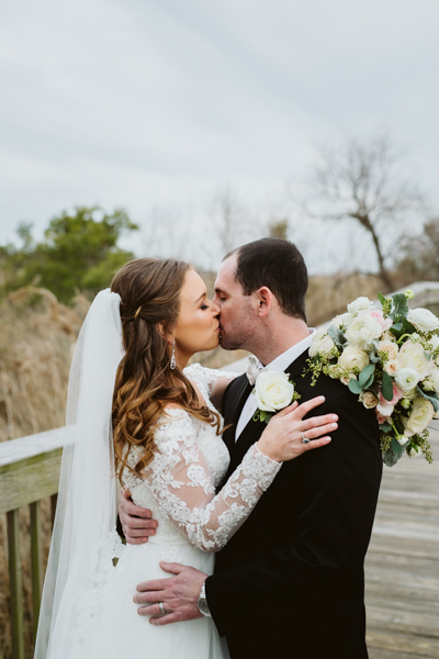 outer banks wedding photography on Duck boardwalk in Duck NC