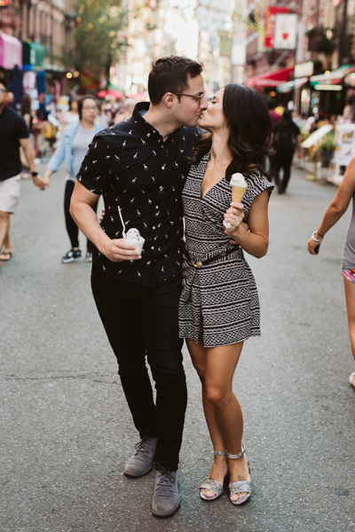 NYC little Italy engagement session
